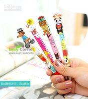athletic ball pen - Freeshipping New Cute Lovely Animal Athletics Kawaii Auto Ballpoint Pen Korean Style Ball