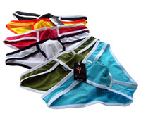 Wholesale 6 colors mixed sexy mesh underwear men sexy briefs for men low waist briefs brand freeshipping