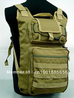 Wholesale Molle Foldable Hydration Backpack Coyote Brown