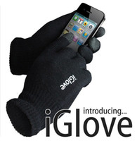 Wholesale IGlove Screen touch gloves Pink black Winter for Iphone touch glove HG123