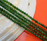 Wholesale 4mm Faceted Natural Green Emerald Round Gems Loose Beads