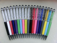 Wholesale 2in1 Crystal stylus pen for capacitive touch pen iPhone ipad S4 Z10 L36H NOTE HTC free DHL pc