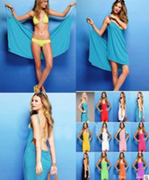 Wholesale free DHL Fedex deep V neck sun crossing beach dress clothes skirt Wrap Dress cotton dress