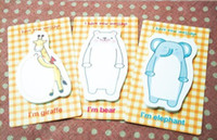 Wholesale cute animal shaped memo pad