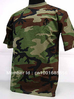 Cheap Camouflage Short Sleeve T-Shirt Camo Woodland