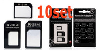 Wholesale 3 in Nano Sim Card Adapter with retail package for iPhone set