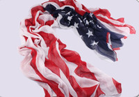 Wholesale US Flag Scarf Voile Chiffon Beach Sarong Size New Arrival Free Shpping