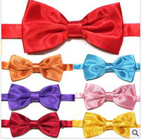 Wholesale men bowties fashion double neckties bowknot ties silk ties colors ky0