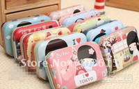 Wholesale Fancy cute Jane TK girl tin pencil box pencil case bag cm cm