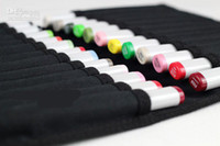 Wholesale Copic folding marker pen bags sketch markers case can hold copic markers freeshipping
