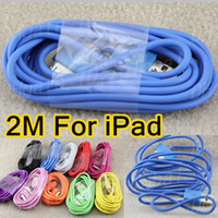 Wholesale 6Ft M Cable for iPad USB Data Sync Charging Cable for iPhone S GS iPad iPad colors