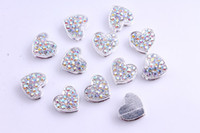 Wholesale 100pcs heart Disco Ball Pave CZ Crystal Heart bead fit for Shamballa Bracelects
