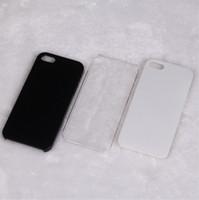 al por mayor caja de plástico brillante iphone-La alta calidad DIY suaviza la caja negra plástica dura transparente transparente blanca negra de la cubierta del caso para el iPhone 4 4S libera el envío