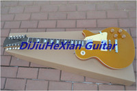 6 Strings gold top - best china guitar Custom Standard gold top Golden color strings electric guitar OEM Musical Inst