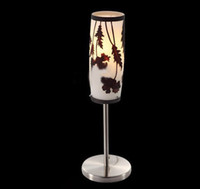 Wholesale Hot Selling Modern Wrought Iron Glass Table Lamp Study Room Bedroom Bedside Lights mm