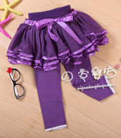 childrens leggings - Skinny Pants Fashion Trousers Childrens Skirt Leggings Girls Lace Tights Baby Cute Bowknot Leggings