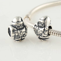 Wholesale loose silver beads Father Christmas thread made of sterling silver beads charms for diy hot items european bracelets LW124