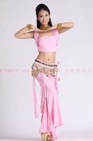 Belly Dancing Sequin Cotton belly dance dancing top+tribal pants+hip scarf+bracelets+necklace costume 6pcs set costume wear