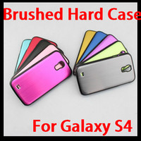 Wholesale Brushed Aluminum Metal Case Cover Skin for Samsung Galaxy S4 SIV I9500 Colors