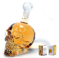 Wholesale Bar Line For ml Popular Cool Crystal Head Vodka Skull Face Bone Glass Bottle Decanter Empty