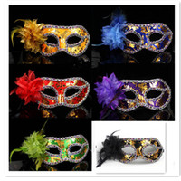 Wholesale Party masks masquerade mask Venetian mask women Lady Sexy masks Side with flowers By CPAM
