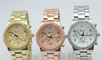 Wholesale 2013 New Arrival Metal Geneva Fashion diamond Designer Watch Wrist Watch Men silver amp rose gold