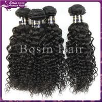 Top quality unprocessed 100% virgin brazilian curly hair ext...