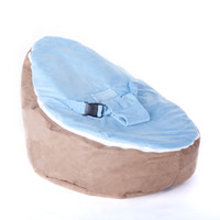 Wholesale Baby Beanbags Chairs Sofa Brown Fancy Cute Seat Sleeping Bed Portable Washable Suede Short Children