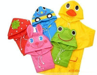 Wholesale Linda Funny Rain Coat Kids Children Raincoat Rainwear Rainsuit Kids Waterproof Animal Raincoat