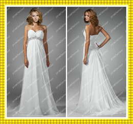 Wholesale 2013 Fall Strapless Sweetheart Lace up Bling Bling Beads Sequins White Chiffon Beach Wedding Dresses
