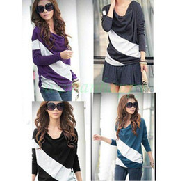 Wholesale 2013 Hot New Fashion batwing long sleeve Women s T shirt Tops