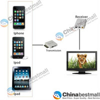 Wholesale Wireless Video Transmission Transmitter amp Receiver Kit Wireless Join for iPad iPhone iPod White