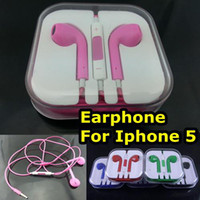 Wholesale Headphone for Iphone Earphone Colorful Earpods Earbuds with Mic amp Volume Control for Iphone5 th