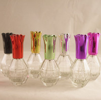 Wholesale 15ml Gourd Shape Spray Glass Bottle Bottle Perfume Color Aluminum Bottle Top