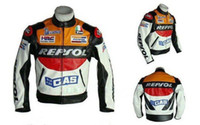 PU jacket racing - Motorcycle riding clothing Jacket motorbike racing suits motorcycle REPSOL Racing Leather Jacket