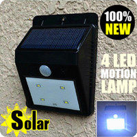 Wholesale Ultrabright LED lights motion sensor activated detection solar wall light garden path lamp
