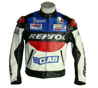Jackets leather motorcycle racing jackets - Motorcycle riding clothing Jacket motorbike racing suits motorcycle REPSOL Racing Leather Jacket PU