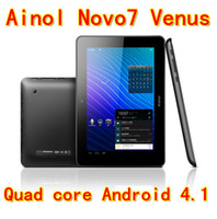Wholesale 2013 New Quad Core Tablet PC Ainol Novo Venus Android IPS GB RAM GB WiFi Dual Camera