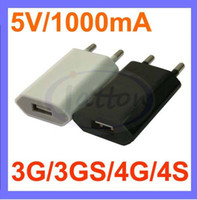 Wholesale Factory price pc V mA AC Power USB Wall Charger For iPhone PLUS S S iPod EU US Plug CE certificated DHL