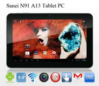 Wholesale Sanei N91 Ampe A96 quot Tablet PC Allwinner A13 Ghz Android MB GB Dual Camera G WIFI