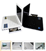 Wholesale 14 inch inch Win7 Notebook Computer Suction DVD RW D2500 GB Memoy GB HDD WIFI Camera