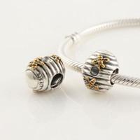 bee - 100 Sterling Silver Thread Bee Pupa charm Bead Fits European Pandora Jewelry Bracelets Necklaces Pendants