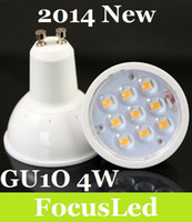 Wholesale 2014 Fireproof Material Led Bulb Light GU10 W SMD Led Spot Downlight Cool Warm White V