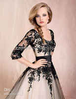 New Elegant Scoop Long Sleeves Ball Gown Lace Cocktail Dress...