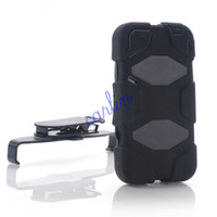 Wholesale Survivor Silicone amp Plastic Case Cover With Belt Clip for iPhone S Rainproof Defenders Free