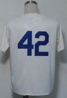 Wholesale 2013 New Hot Baseball Jerseys Men s Jackie Robinson Cream Throwback Jerseys Mix Order