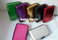 Wholesale 50pcs Aluminium Credit card wallet cases colors available card holder bank card case