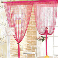 Wholesale Decorating red string curtain for room divider pieces x11 x300cm Free