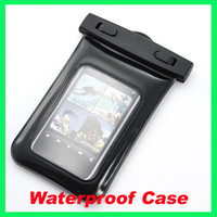 Wholesale Waterproof Bag Case Inflatable with Neck Strap for iPhone S HTC Cell Phone iPod MP3 MP4