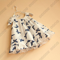TuTu Summer A-Line Baby girl kids Butterfly vest dress Ruffle Sundress Sleeveless Pinafore fancy dress jumper layers 5